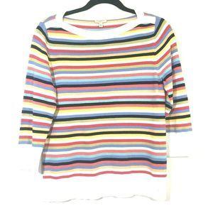 Talbots | Multicolor Pullover Striped Sweater
